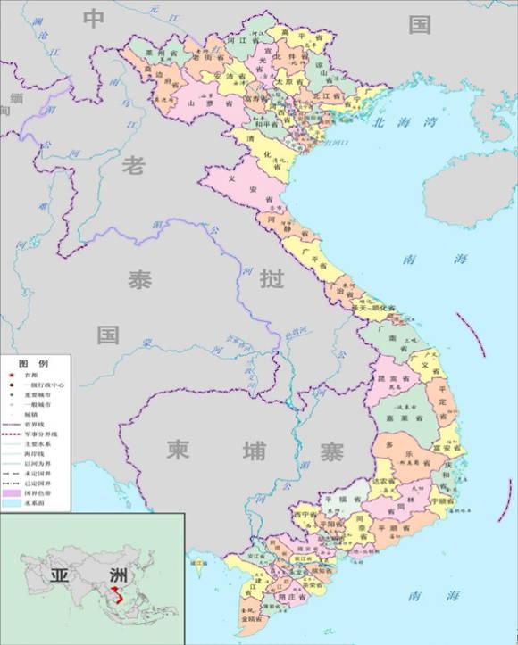 越南為何要劃分出64個省級行政區呢?